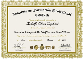 Certificado Instituto CBTEch